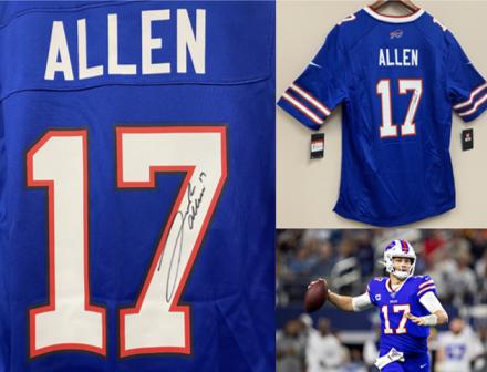 Buffalo Bills Quarterback Josh Allen Signed Jersey | AirAuctioneer