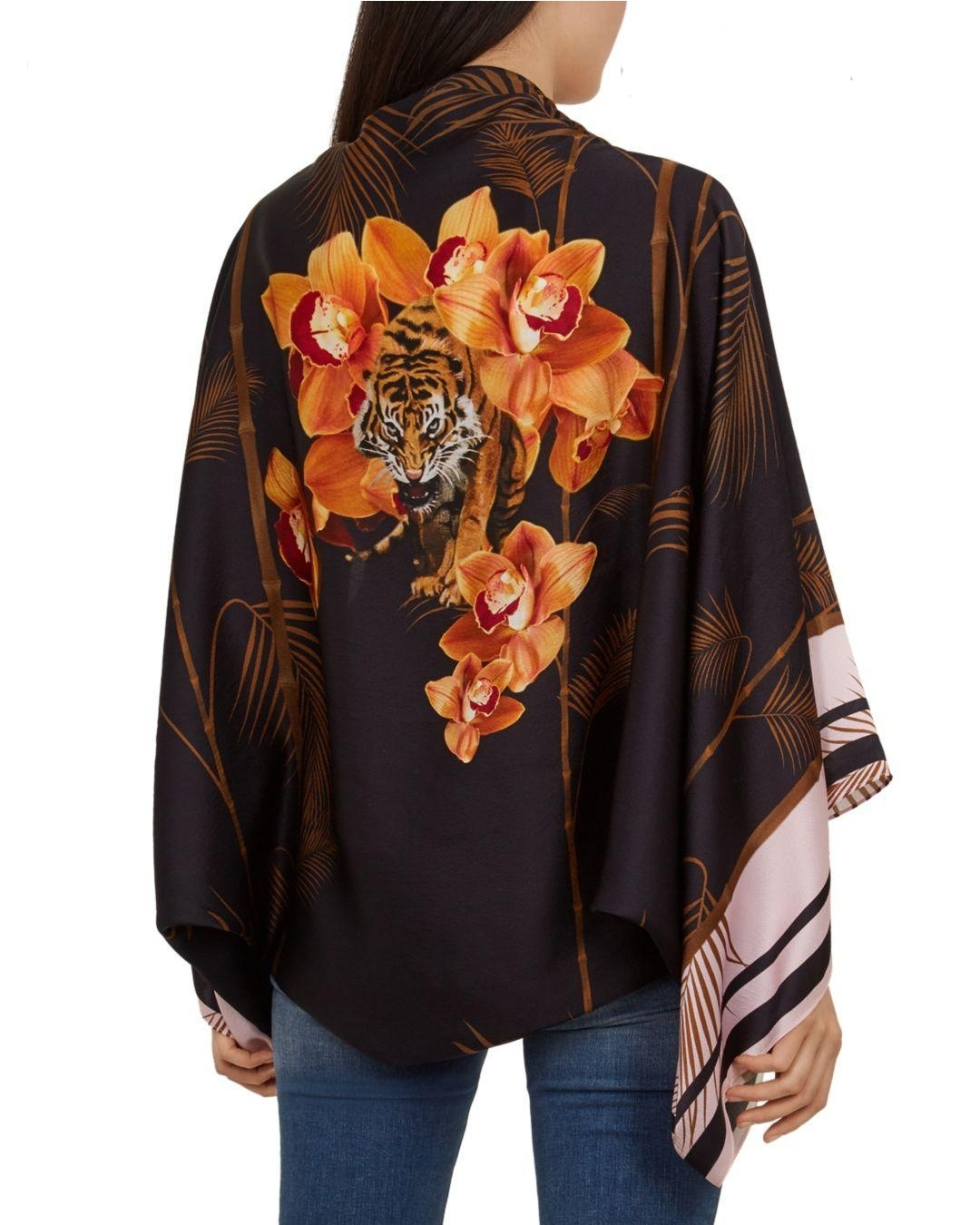 AMAZING! Ted Baker Versailles Silk Cape scarf Gold £99